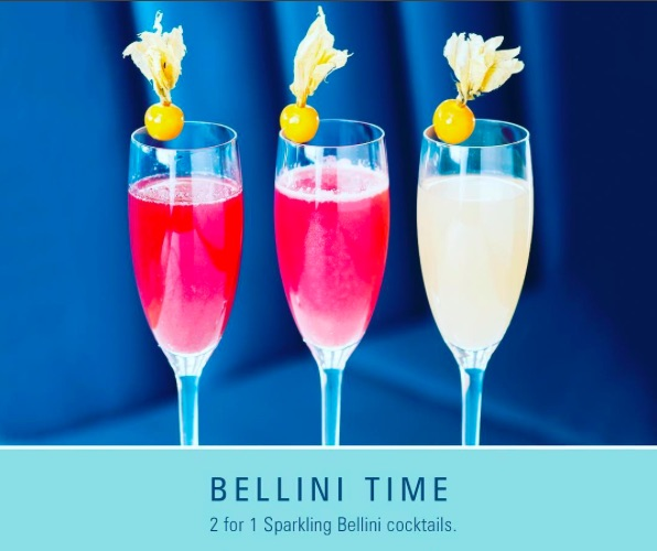 2 for 1 Bellinis