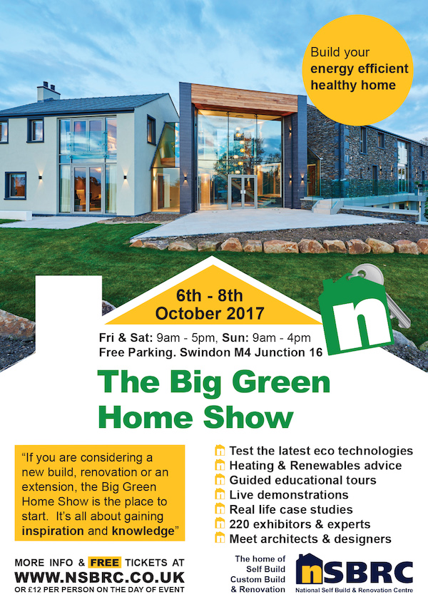 FREE Tickets for The BIG Green Home Show | NSBRC