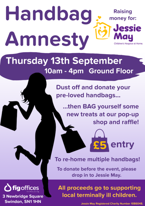 Bag a bargain for charity – Children's charity Jessie May hosts first Handbag Amnesty fundraiser