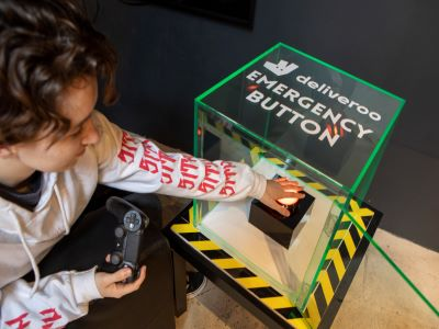 Deliveroo Installs 'Emergency Burrito Button' at Belong Gaming Arena