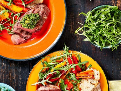 Recipe: Lamb Leg Steaks With Watercress Pesto