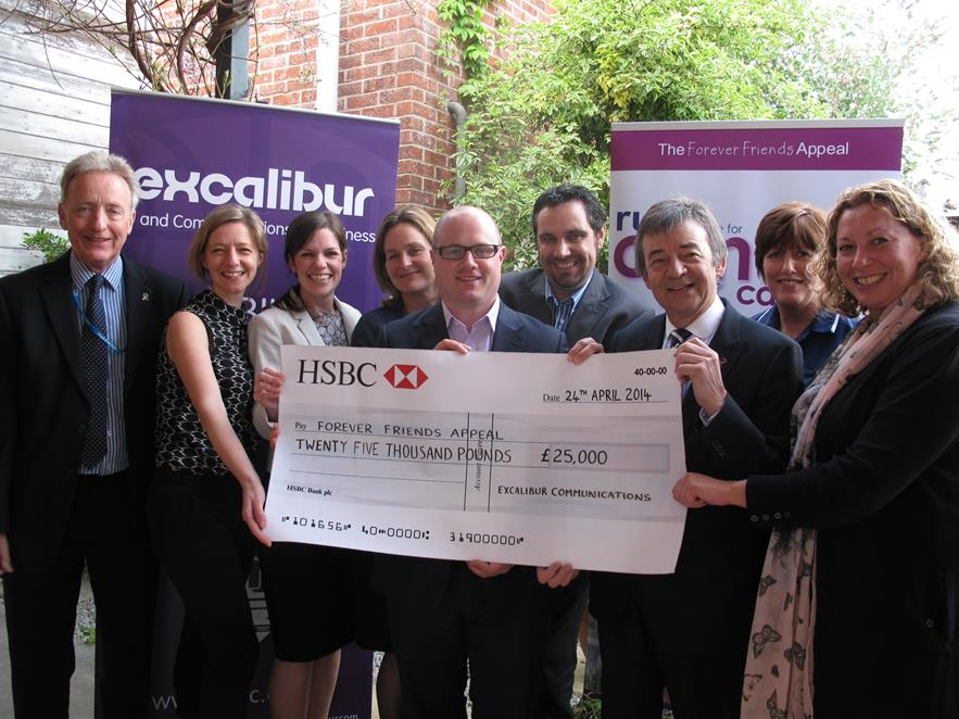 Excalibur Pledge £50k for Cancer Centre