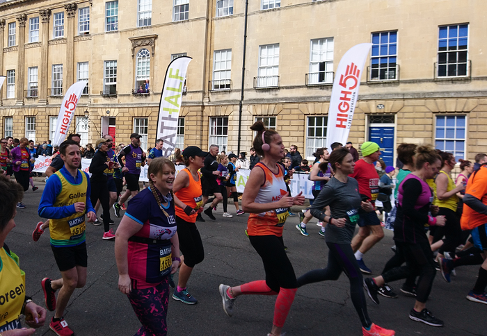 Bath Half runners raise over £5,000 for  Bristol-based children's charity Jessie May