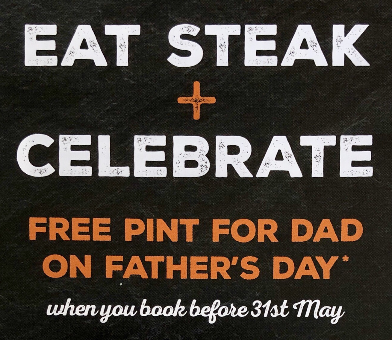 Free Pint for Dad