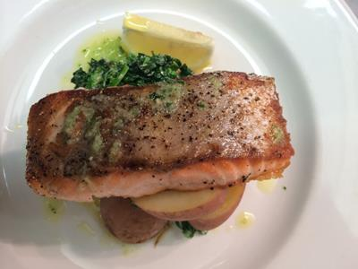 Recipe: Salmon with New Potatoes and Savoy Cabbage