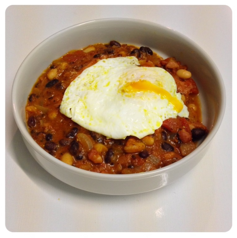 Recipe: Bonfire Ham, Egg & Beans