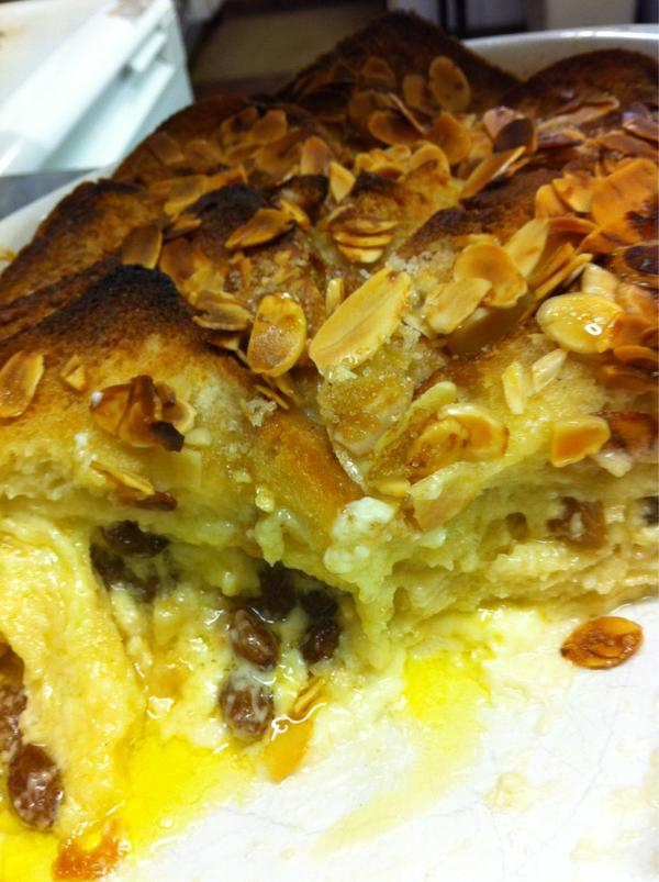 Recipe: Marzipan Bread & Butter Pudding